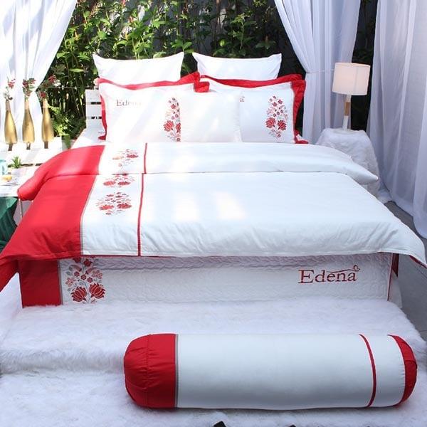 Bộ Chăn Ga Gối Edena Cotton Solid 358 1
