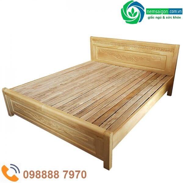 Giường Ngủ Gỗ Sồi Nga Giá Rẻ 1